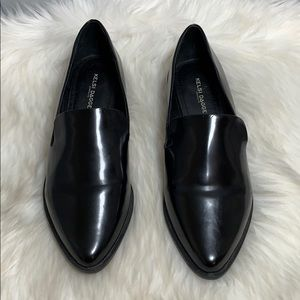 Kelsi Dagger Black Pointy Toe Slip-On Loafer Sz 10
